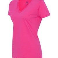 FRUIT OF THE LOOM Ladies L39VR 5 oz.,100% Heavy Cotton